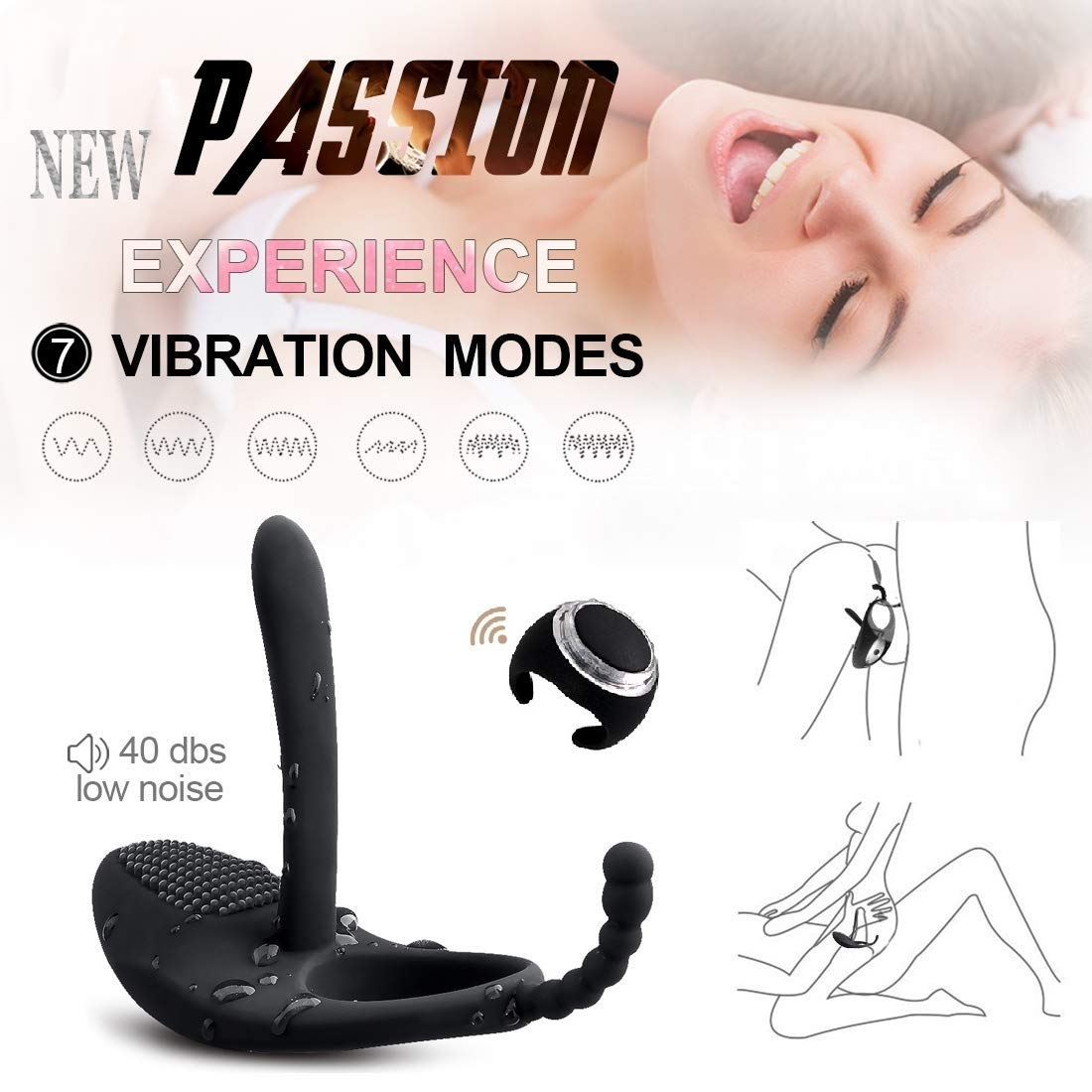Waterproof Male Ring Massage Adult Toys Dicks Play Stimulators Things for Men, Women and Couples