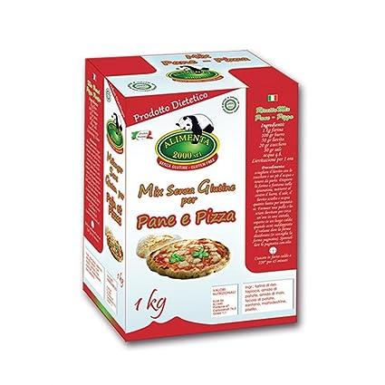 Alimenta 2000 Harina Pan Mix Sin Gluten pizza 1kg: Amazon.es ...