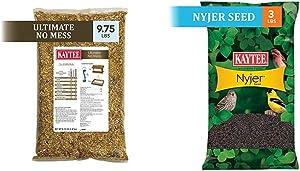Kaytee Ultimate No Mess Wild Bird Food, 9.75 lb & Nyjer Thistle Seed, 3 lb