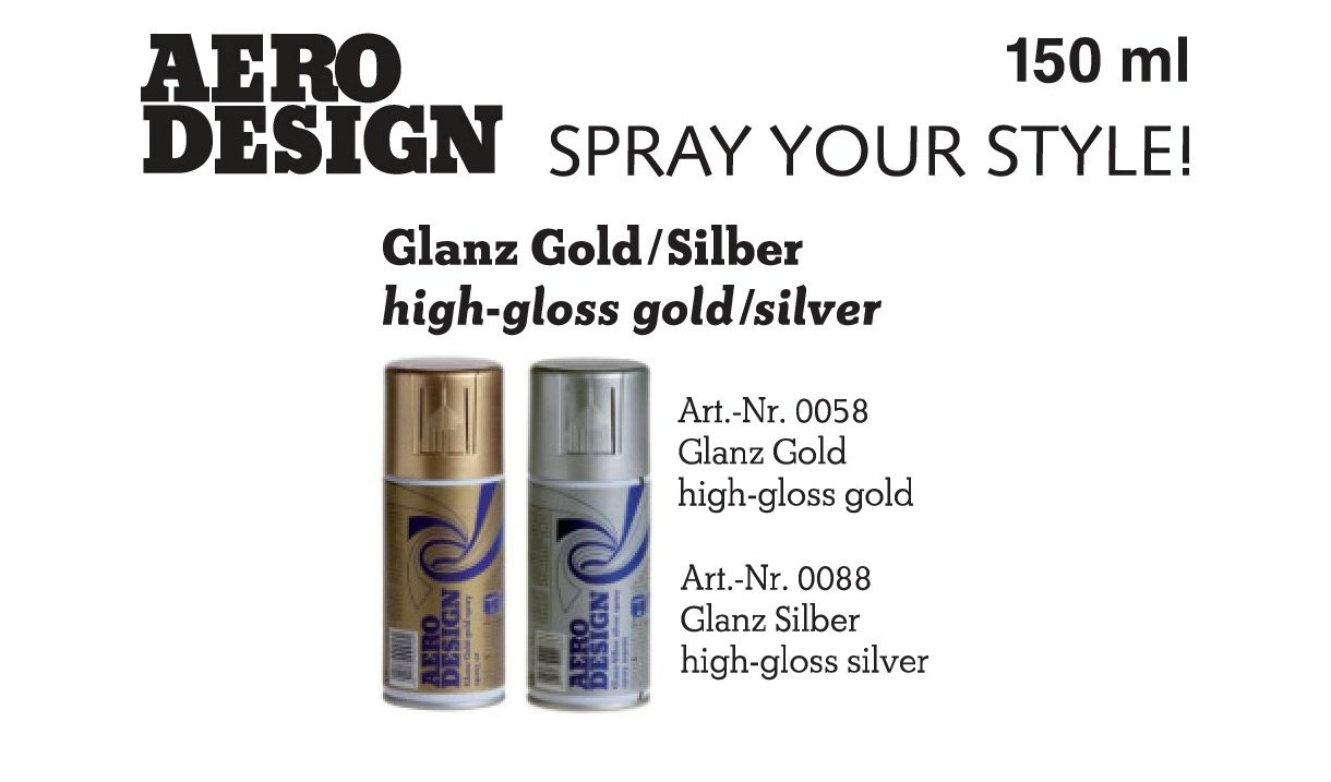 Sprühlack, Lackspray, Design Lack, Glanz Silber 150 ml: Amazon.de ...