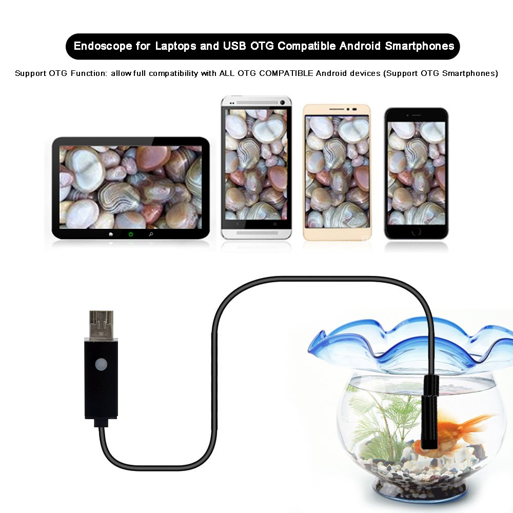 Amazon.com : eBerry USB Endoscope, 2 in 1 Micro USB Borescope Waterproof Inspection Snake Camera with LED Flexible Endoscope OTG for Android Smart Phones, ...