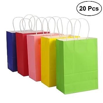 Toymytoy Sac Cadeau Sacs En Papier Kraft Avec Poignées Shopping