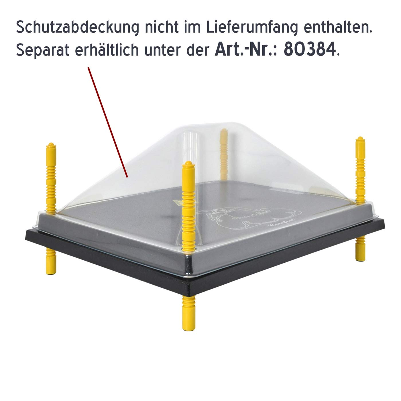 Heizplatte Inkubator Heizmatte 50 Watt Heizkabel K/ükenw/ärmer Kunstglucke W/ärmebirne K/üken-W/ärmeplatte Comfort 40 x 50 cm