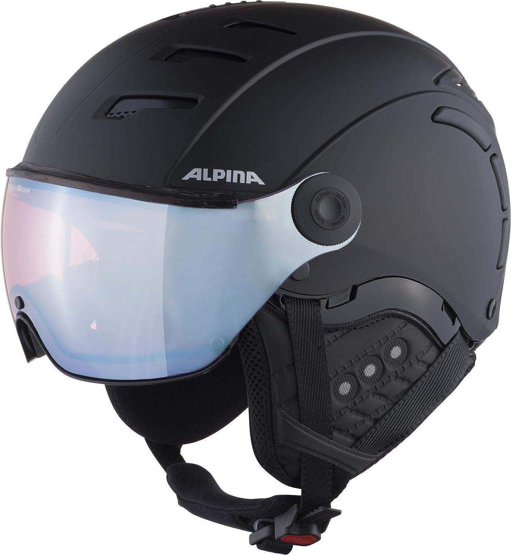 Alpina Unisex Adultos Jump 2.0 QVM Casco de esqu/í y Snowboard Negro Mate silvr 59-61 cm