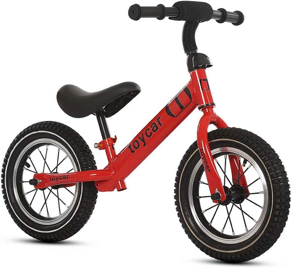 Bicicleta de equilibrio bicicleta infantil 2-6 años scooter infantil sin pie tobogán infantil (rojo