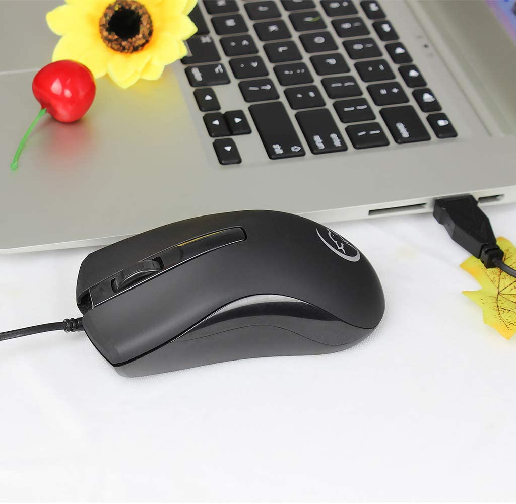 Itlovely 2400DPI Mini Optical Wired Mouse Gaming Mice G831 for Gamers PC Computer Laptop Notebook Accessories