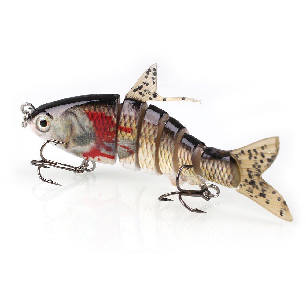 Forfar Segmento 6 Multi Pesca cebo duro Pesca articulado Señuelos artificiales duro Crank cebo swimbait 17g Curricán gan