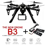 CreaTion MJX B3 Bugs Standard Quadcopter Drone Camera Carrier Drone Bidirectionnel 2.4G 4CH 6-Axis Gyro Camera Carrier Drone (Chargeur extra et deux batteries)