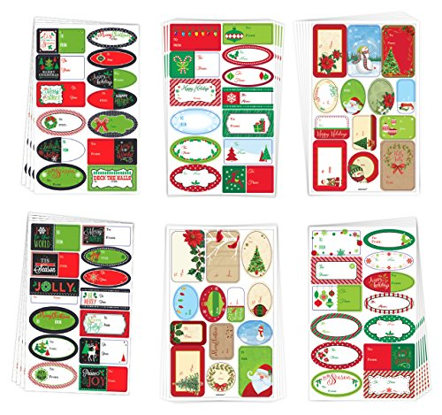 Holiday Gift Supplies Over 450 Christmas Holiday Gift Labels Self Adhesive, Mark To & From on All Your Gifts by B-THERE