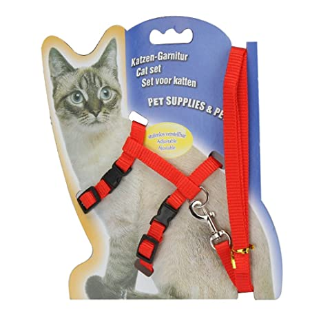Sadocom Arnés de nailon para gatos (125 cm)