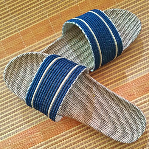Sandals Wind Slippers Shoes Indoor Linen for Men Outdoor Indoor Slippers Beach Summer Goal Brown House Skidproof Women HZHqwB