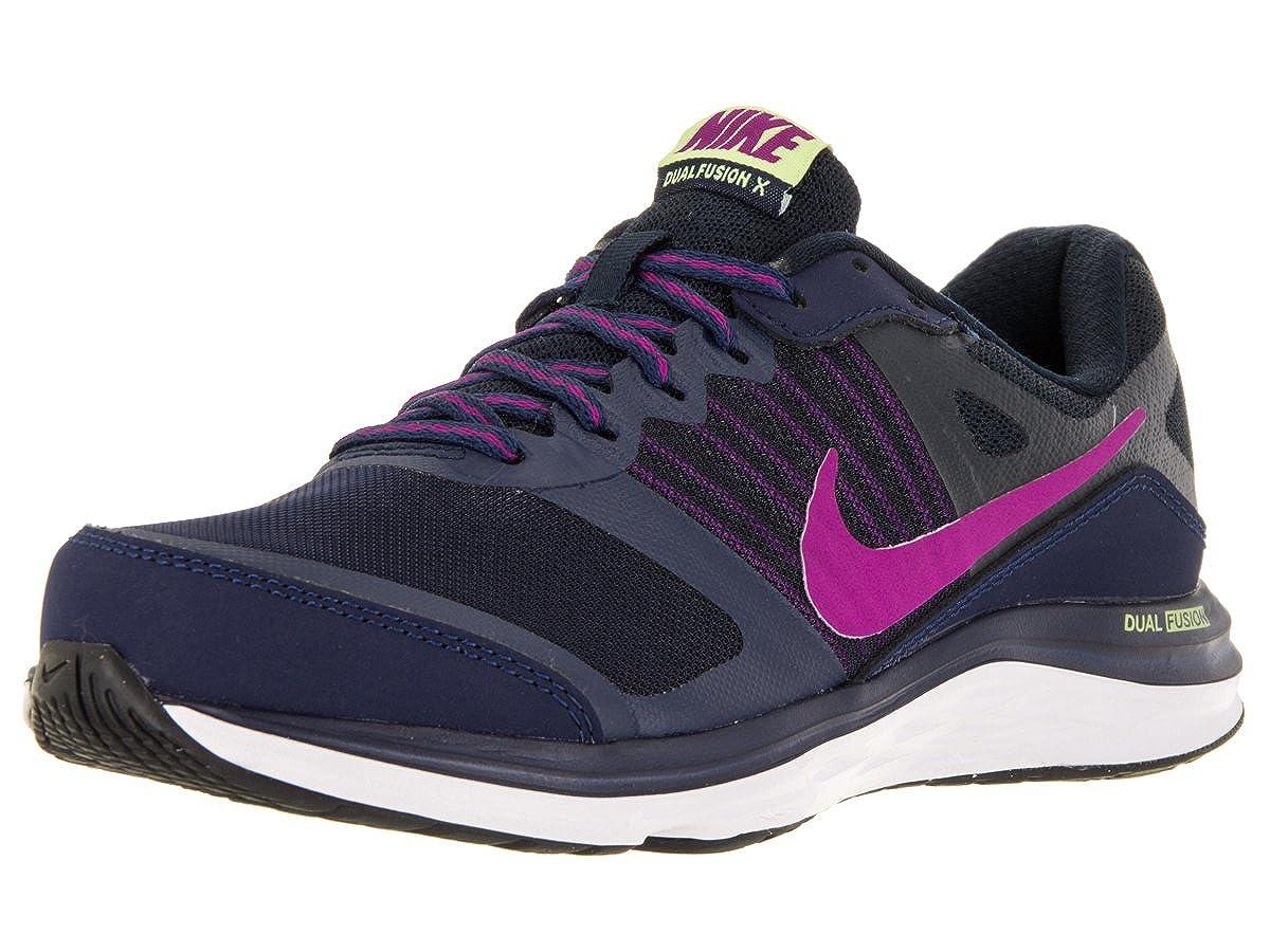 5d36367dc0d Nike Women s Dual Fusion X Mid NVY FCHS Flsh Drk Obsdn Gh Running Shoe 6  Women US  Amazon.in  Shoes   Handbags