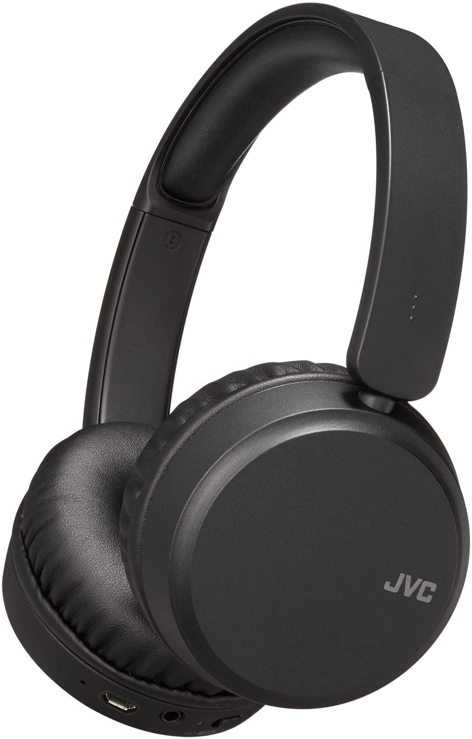 JVC Noise Cancelling Wireless Headpones, Bluetooth 4.1, Bass Boost Function, Voice Assistant Compatible - HAS65BNB(Black)