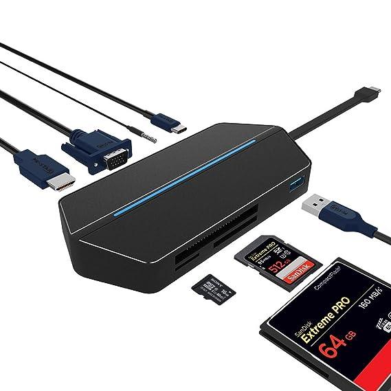 AUKEY USB C Hub HDMI 2 USB 3 0 Ports Aluminum 5 in 1 USB C