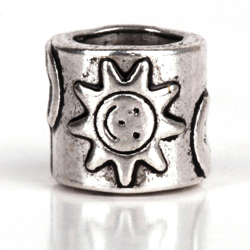 4  Moon sun stars charms antique silver tone M79