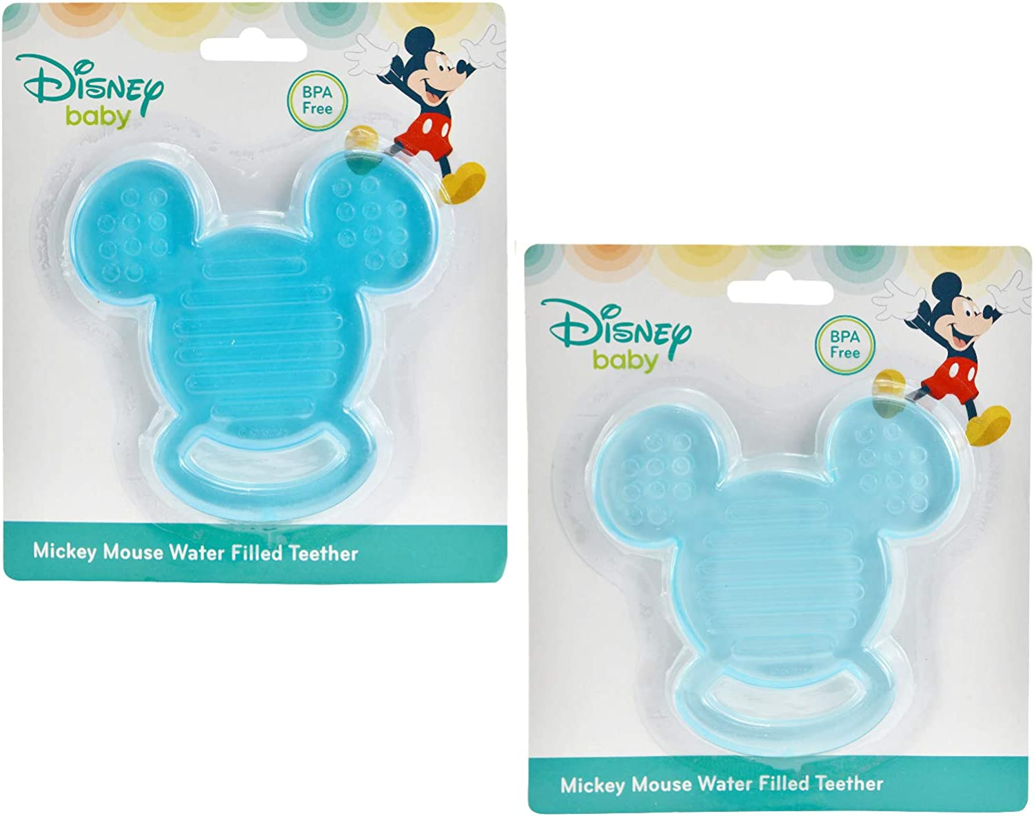 BRAND NEW IN PACKAGE Disney Baby Mickey Mouse BPA Free Water Filled Teether Set