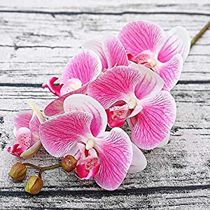 GSD2FF 3D Artificial Butterfly Orchid Flowers Orchid Flower for Home Wedding DIY Decoration Home,Deep Pink 27