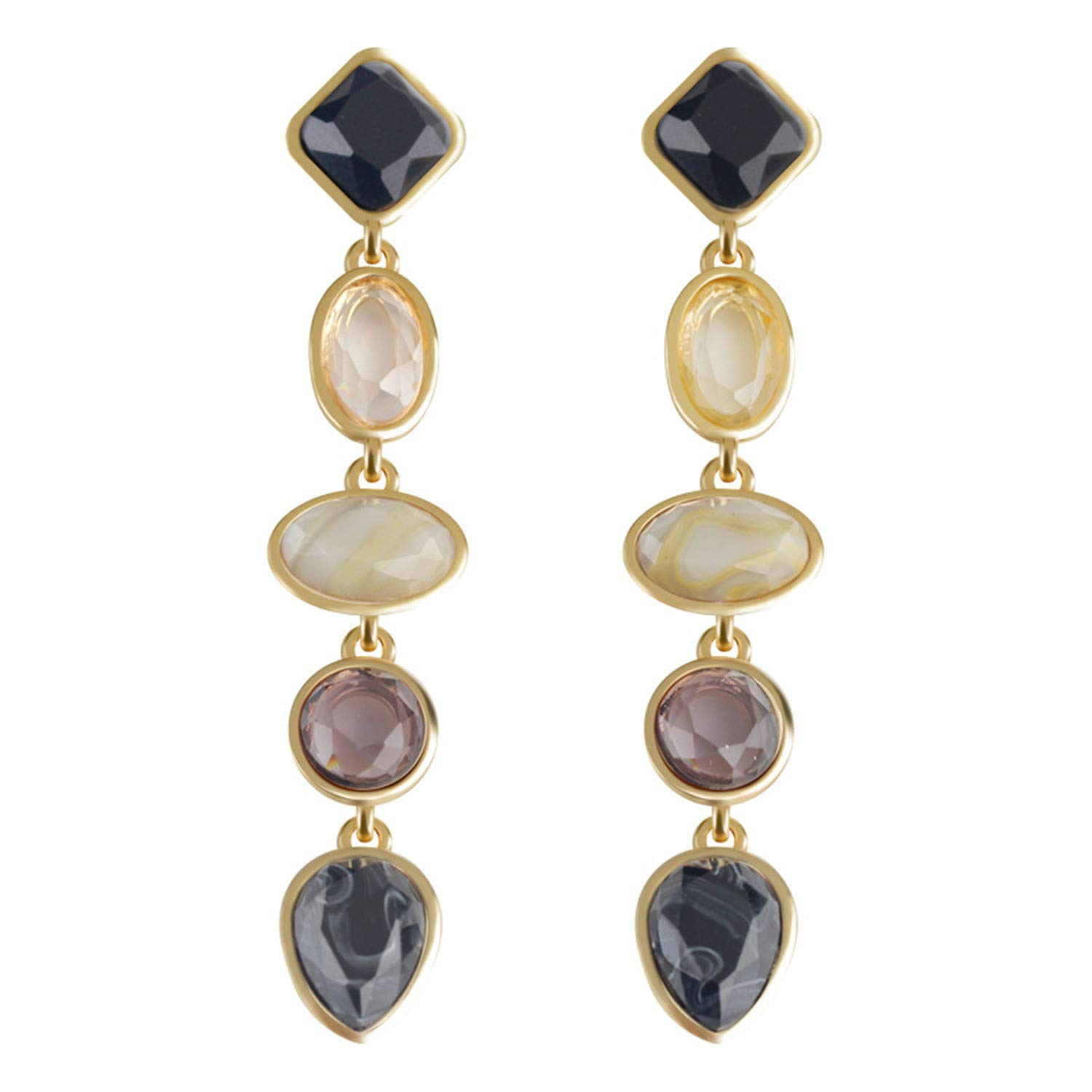 CLUB Fashion Europe and The United States New Resin Earrings Earrings Ear Jewelry