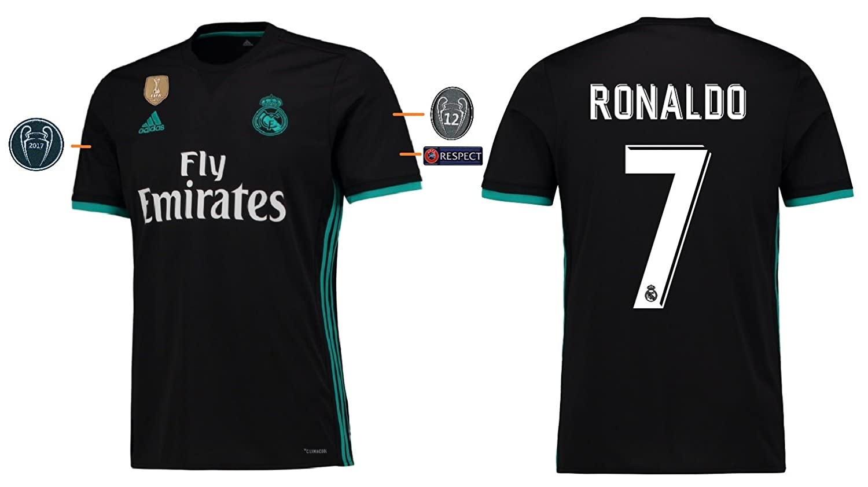 Trikot Kinder Real Madrid 2017-2018 Away UCL - Ronaldo 7