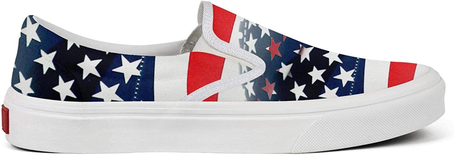 Womens The USA Football American Flag Canvas Sneakers Runners Non-Slip Limited Edition Sneakers Training Shoes