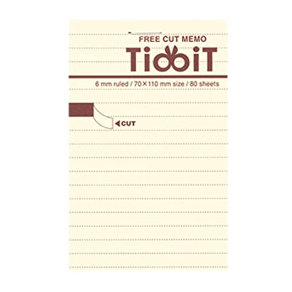 amazon com kokuyo tidbit free cut memo pad a7 4 1 x 2 9 6