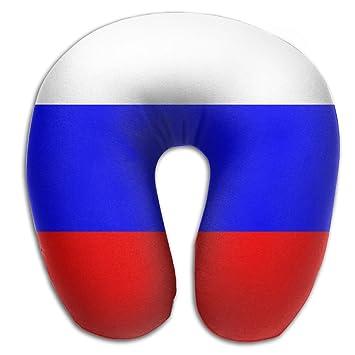 Bandera de Rusia U cuello almohada de viaje cuello almohada apoyo en un tren, avión, coche, autobús o mientras Camping: Amazon.es: Hogar