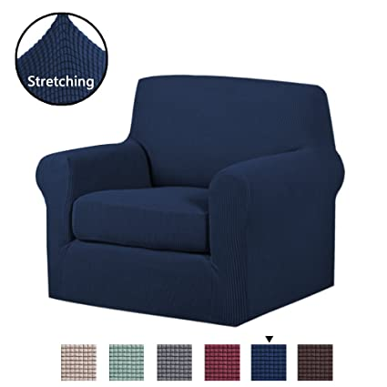 Charmant H.VERSAILTEX Stretch Chair Slipcovers Sofa Covers 2 Pieces Furniture  Protector Rich Textured Lycra High