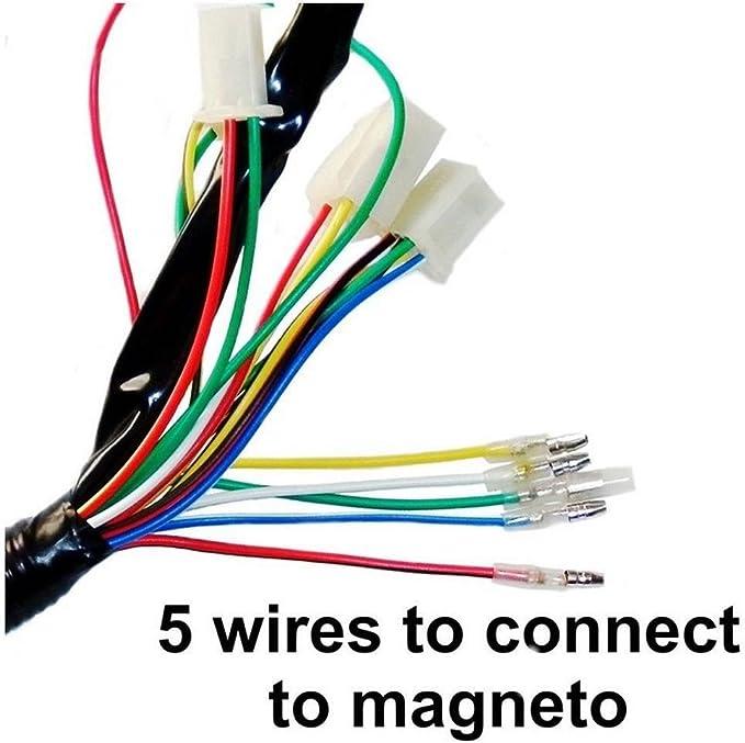 Ocamo Bobina de Encendido,Arn/és electr/ónico Completo,Kit de cableado CDI para 50 70 90 110CC ATV
