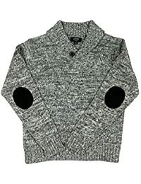Boys Button Shawl Collar Pullover Sweater