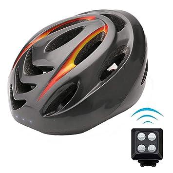 QYXANG Casco de Bicicleta Inteligente Casco de señal de Giro Casco de Ciclismo Seguro con luz