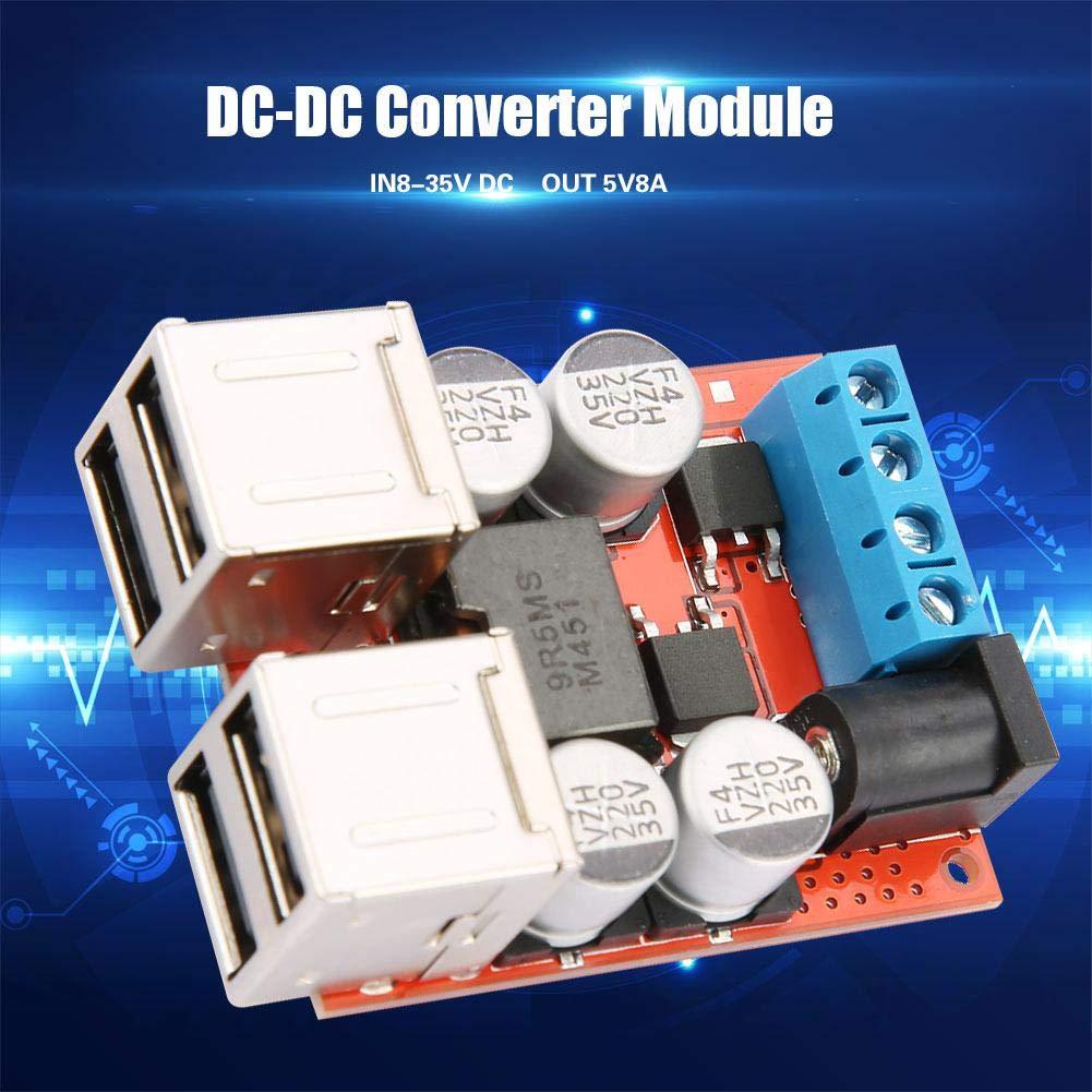 5A Einstellbarer Leistungs DC-DC Step-Down-Lademodul-Treiber Spannungsmesser BL