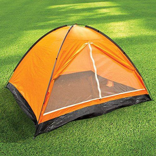 Milestone Dome Tent with Carry Bag (4 Person), Orange