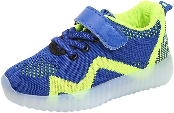 Zapatillas Ligeras Zapatillas para Niños LED Lights,ZARLLE Zapatos de niños niñas niño Casuales Zapatos para Caminar Respirable Tejido Volador Luces de Colores Zapatos para Correr: Amazon.es: Ropa y accesorios