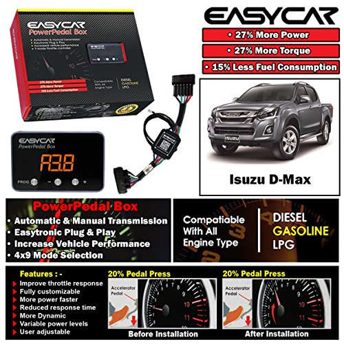 EASYCAR Power Pedal Box Throttle Controller For Isuzu D-Max Dmax TF 2012-ON