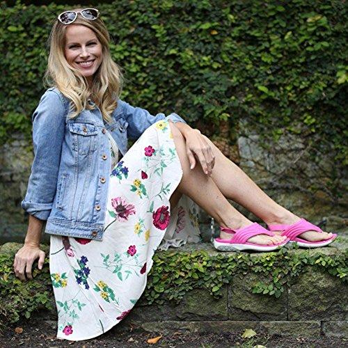 Therafit Zomer Womens Stof Slingback Sportsandaal - Voor Fasciitis Plantaris / Voetpijn Roze