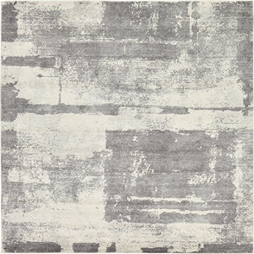 A2Z Rug Gray 8′ 4 x 8′ 4 – Feet Tradition Area Rug – Square