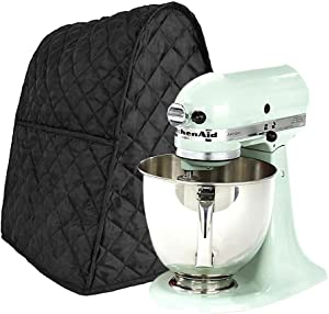 Stand Mixer Cover Dustproof Kitchen Aid Mixer Covers Waterproof Thicken Protective Covers with Organizer Bag for Kitchen Mixer (Black)