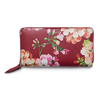 7b285ccd856 Amazon.com  Gucci Shanghai St Red Blooms Blossoms Floral Leather Zip Around  Wallet Box New  Shoes
