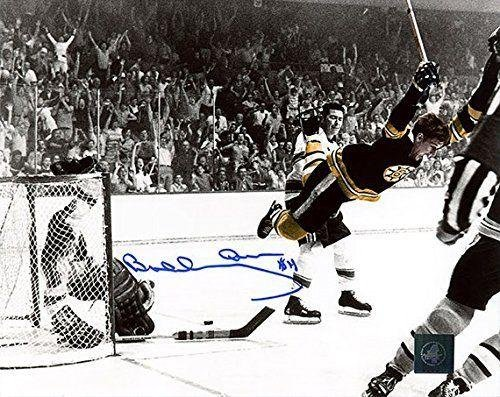Bobby Orr Autographed Photo - Flying Goal 16x20 GREAT NORTH - Autographed NHL Photos