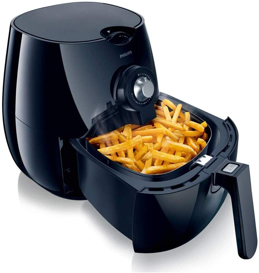 Philips Hd922020 Air Fryer With Rapid Air Technology For Healthy Cooking Baking And Grilling Plastic 1425 W Black