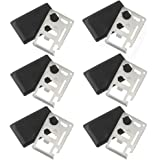Credit Card Survival Pocket Wallet Tool (6 pcs) Thick Stainless Steel/Inch Scale Gifts for men