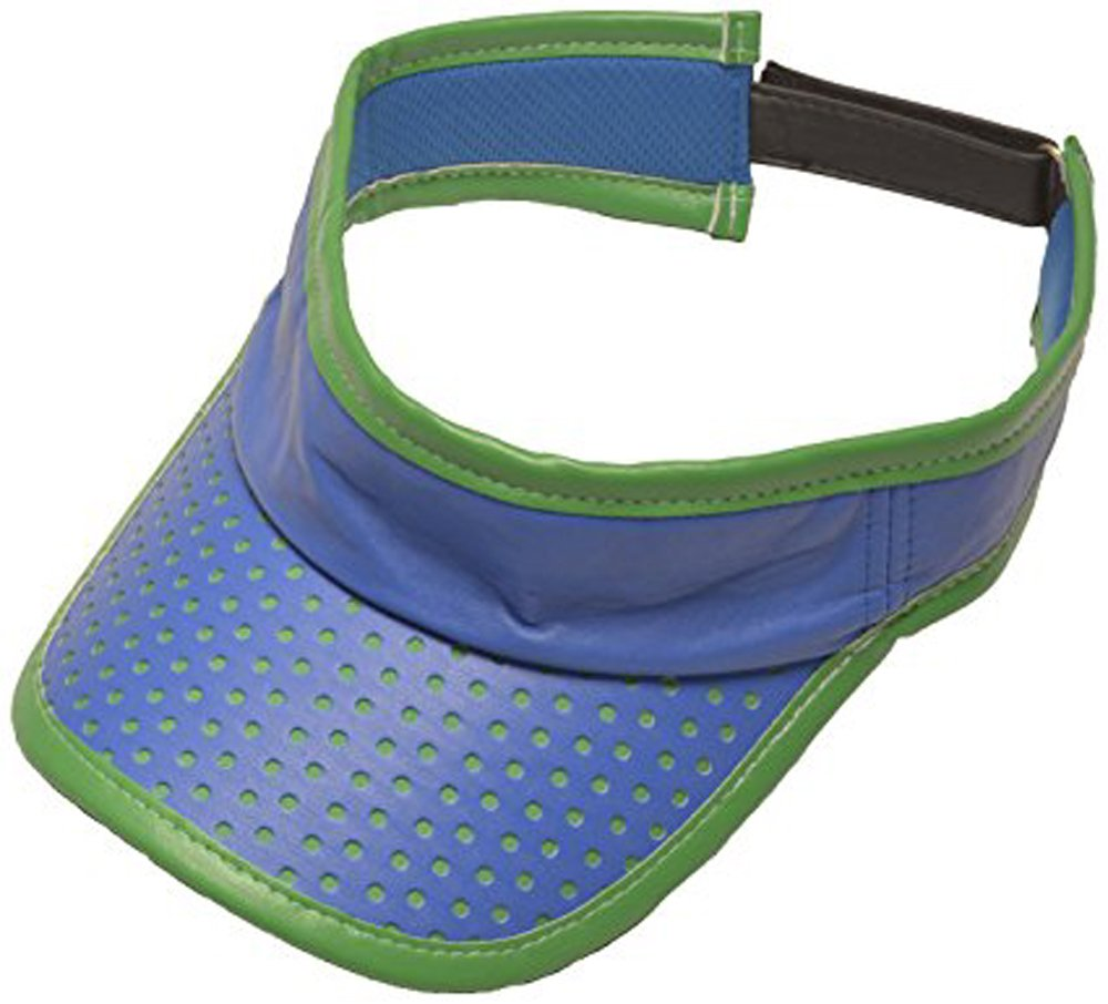 GloveIt Women's GS Velcro Visor, Blue/Green
