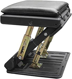 Niome Adjustable Footrest with Removable Soft Foot Rest Pad Max-Load 120Lbs with Massaging Beads for Car,Under Desk, Home, Train,4-Level Height Adjustment