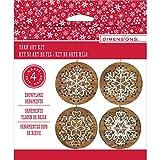 Stitch Art Wood Ornaments Kit 4'' Makes 4-Snowflakes
