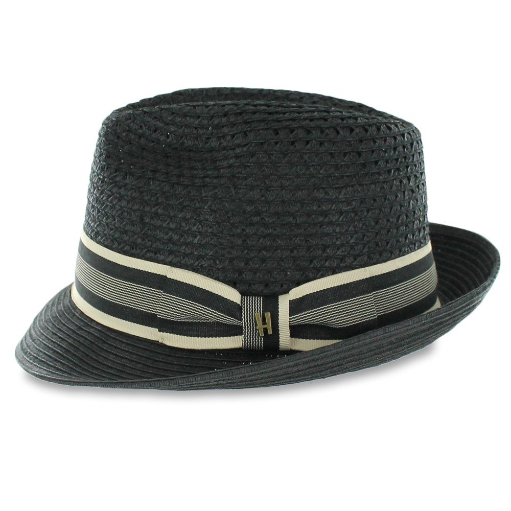 af0cd14bb4365 ... Men Women Woven Straw Trilby Summer Fedora Hat in Ivory