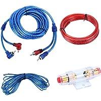 YH-128 1200W Car Amplifier Audio Power Cable Subwoofer Bedradingsinstallatie Kit met High Performance RCA Interconnect
