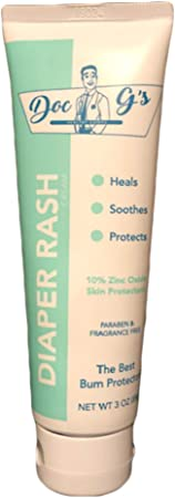 Diaper Rash Cream by Doc Gs for Unisex - 3 oz Dietary Supplement