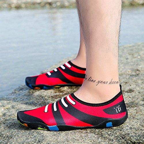 la de Lucdespo deportes el fitness niño parejas verde S60 rápido de padre descalzos natación Secado Running de yoga cuidado calzados piel zapatos suaves para rExEqO