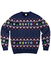 Marvel Group Team Up Ugly Sweater Christmas Mens Sweatshirt