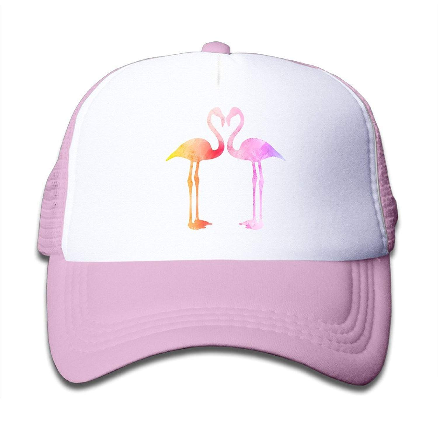 WCMBY Personality Caps Hats Watercolor Flamingo Flamingo Love Boys Girls  Mesh Cap Trucker Caps Hat Adjustable Black  Amazon.co.uk  Sports   Outdoors 865c1526ff4e